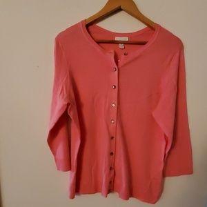 Charter Club Woman Sweater Peach NWT - OX